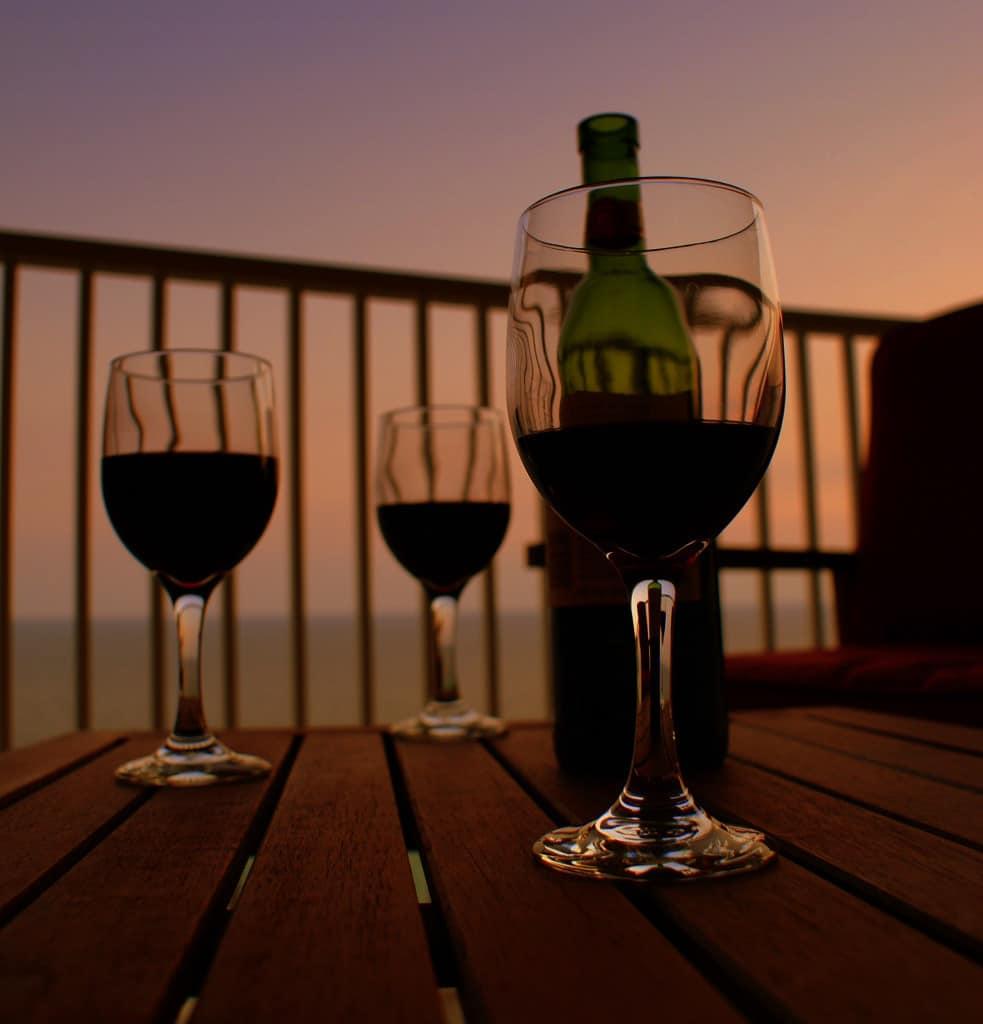 Wine at Il Goccetto   Courtesy of Steve Driskell.