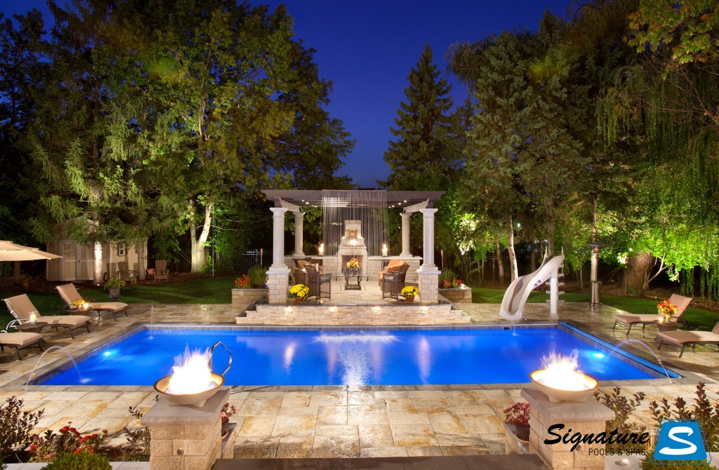 Luxury backyard design trends for 2015 upscale living for Luxury swimming pools